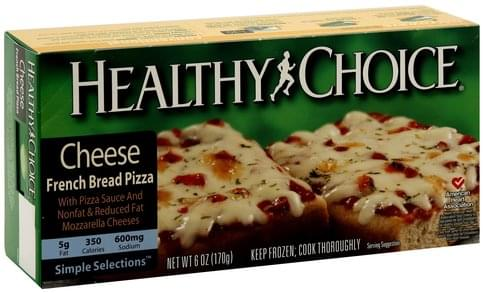Healthy Choice French Bread, Cheese Pizza - 6 oz