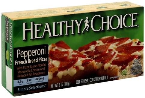 Healthy Choice French Bread, Pepperoni Pizza - 6 oz