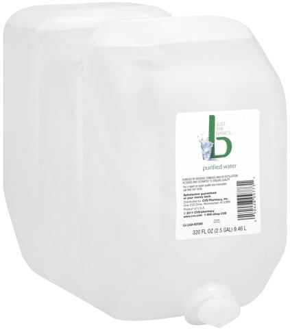 Just The Basics Purified Water - 320 oz, Nutrition