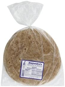 Alejandros Tortilla Whole Wheat, Medium