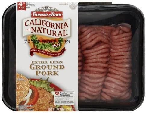 Farmer John Extra Lean, 4% Fat Ground Pork - 19.2 oz