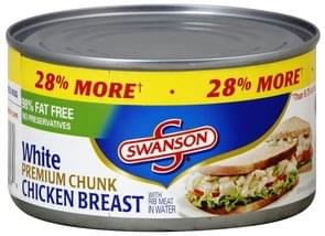 Swanson Chicken Breast White, Premium Chunk, with Rib Meat in Water