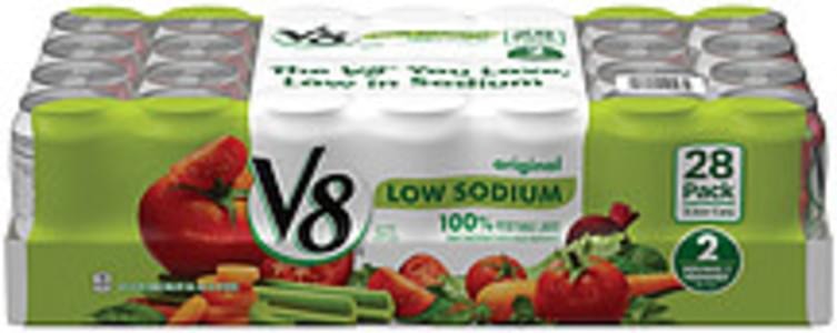 V8 100% Vegetable Juice Low Sodium Original