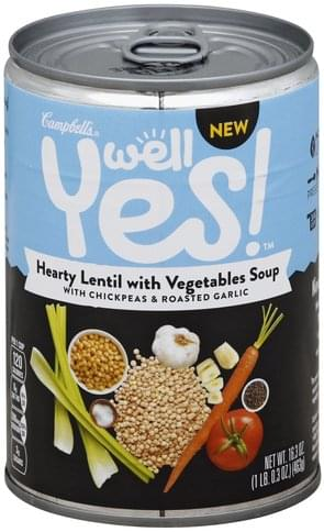 Campbells Hearty Lentil with Vegetables Soup - 16.3 oz