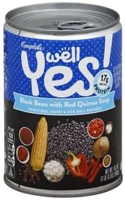 Campbells Soup Black Bean with Red Quinoa