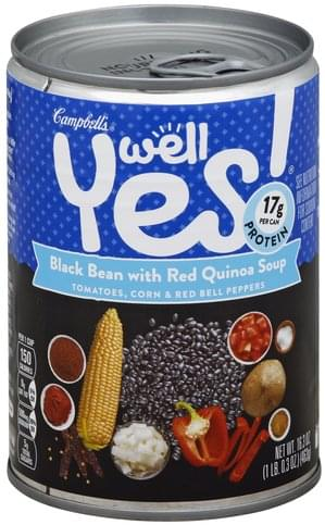 Campbells Black Bean with Red Quinoa Soup - 16.3 oz