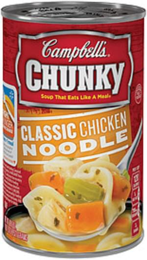campbell's chunky classic chicken noodle soup - 18.6 oz