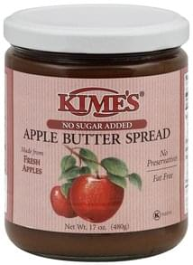 Kimes Apple Butter Spread No Sugar Added