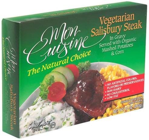 Mon Cuisine Vegetarian Salisbury Steak - 10 oz