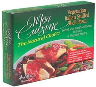 Mon Cuisine Vegetarian Italian Stuffed Shell Pasta