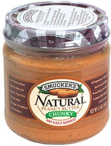 Smuckers Chunky Natural Peanut Butter - 12 oz