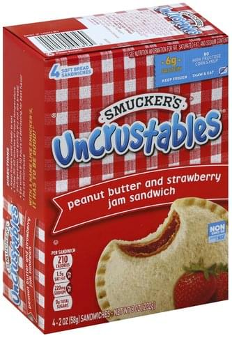 Smuckers Peanut Butter and Strawberry Jam Sandwich - 4 ea