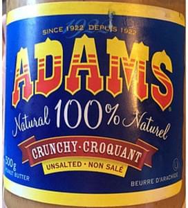 Adams Peanut Butter Natural