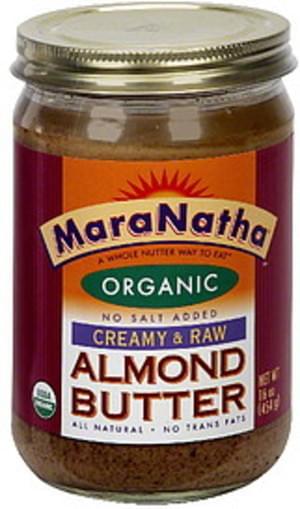 Maranatha Creamy & Raw Almond Butter - 16 oz