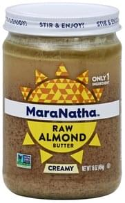 MaraNatha Almond Butter Raw, Creamy