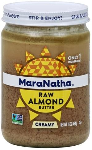 Maranatha Raw, Creamy Almond Butter - 16 oz