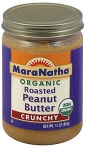 MaraNatha Peanut Butter Roasted, Organic, Crunchy