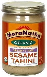 Maranatha Organic Sesame Tahini Creamy & Raw