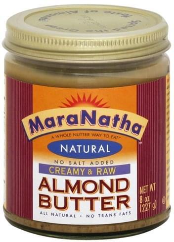 MaraNatha Creamy & Raw Almond Butter - 8 oz