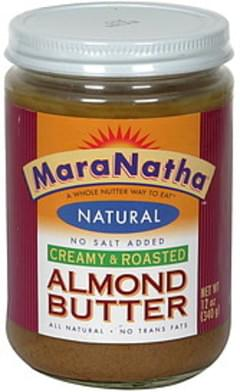 Maranatha Natural Almond Butter No Salt Added, Creamy & Roasted