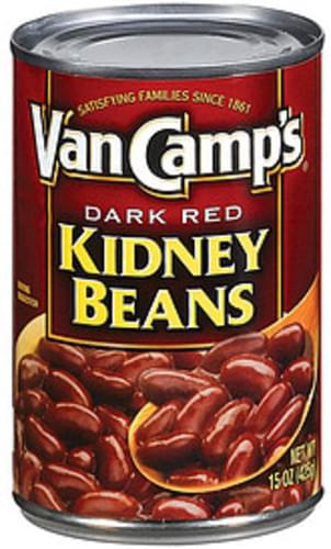 Van Camp S Dark Red Kidney Beans 15 Oz Nutrition Information Innit