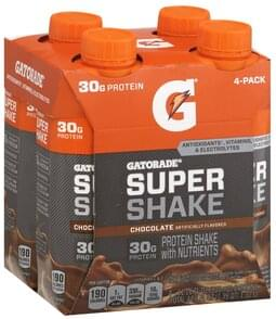 Gatorade Super Shake Chocolate, 4 Pack