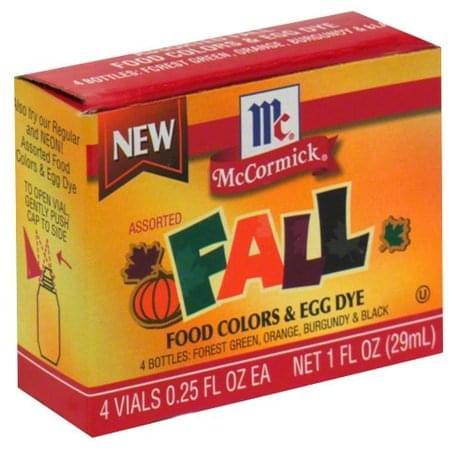 Mccormick Assorted Fall Food Colors & Egg Dye - 4 ea ...