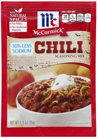 Mccormick Chili Seasoning Mix - 1.25 oz