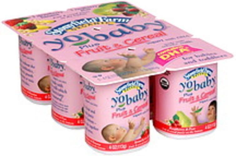 Yo Baby Plus Fruit & Cereal, Organic, 3