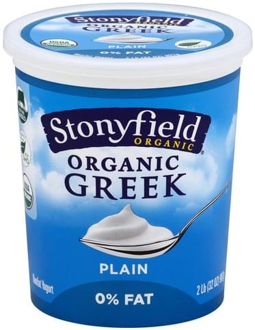 Stonyfield Farm Greek, Nonfat, Organic, Plain Yogurt - 32 oz