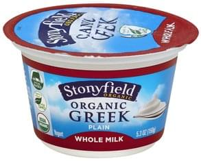Stonyfield Farm Yogurt Greek, Organic, Whole Milk, Plain