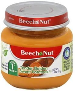 Beech Nut Tender Golden Sweet Potatoes Stage 1 Veggie