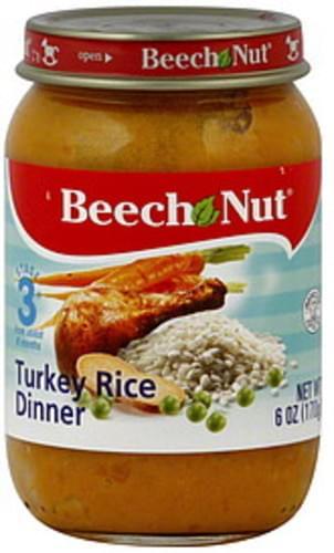 Beech Nut Stage 3 Turkey Rice Dinner - 6 oz