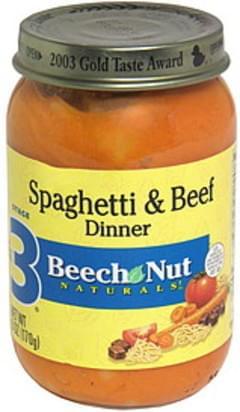 Beech Nut Spaghetti & Beef Dinner Stage 3