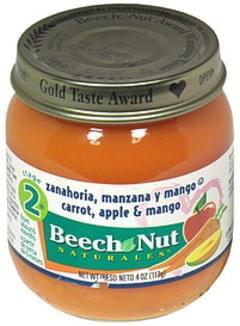 Beech-Nut Carrot, Apple & Mango Stage 2