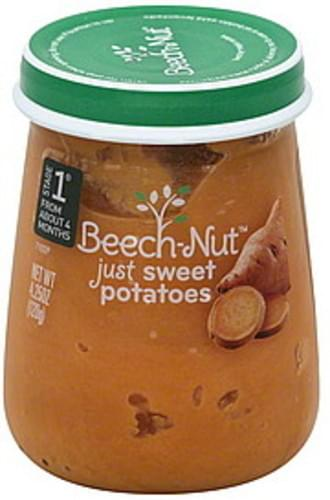 Beech Nut Stage 1 Just Sweet Potatoes - 4.25 oz