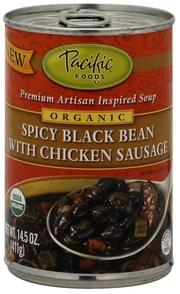 Pacific Premium Artisan Inspired Soup Spicy Black Bean with Chicken Sausage