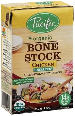 Pacific Unsalted, Chicken Bone Stock - 15.2 oz