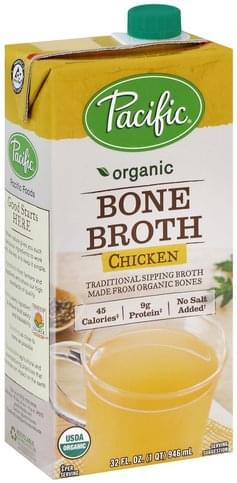 Pacific Foods Bone, Chicken Broth - 32 oz