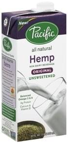 Pacific Foods Non-Dairy Beverage Hemp, Unsweetened, Original