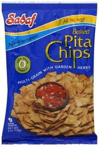 Sadaf Pita Chips Baked, Mediterranean