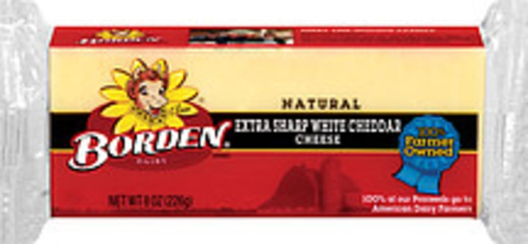 Borden Natural Extra Sharp White Cheddar Cheese - 8 oz