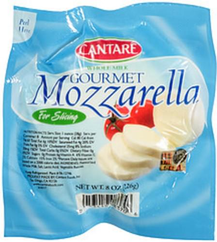 Cantare Gourmet Mozzarella Cheese - 8 oz