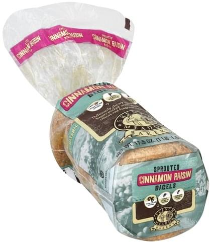 French Meadow Sprouted, Cinnamon Raisin Bagels - 17.5 oz