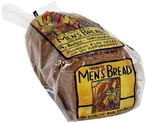 Mens Bread Organic Men's for Vitality and Energy Bread - 24 oz