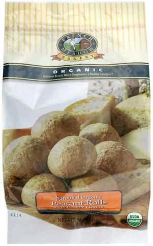 French Meadow With Ezekiel Grains Sprouted Organic Peasant Rolls - 16 oz