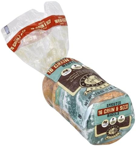 French Meadow Sprouted, 16 Grain & Seed Bagels - 17.5 oz