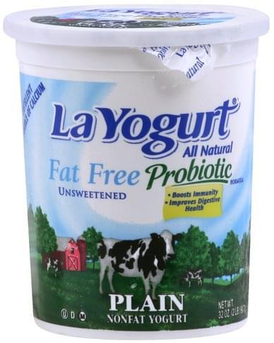 La Yogurt Fat Free, Plain, Unsweetened Yogurt - 32 oz
