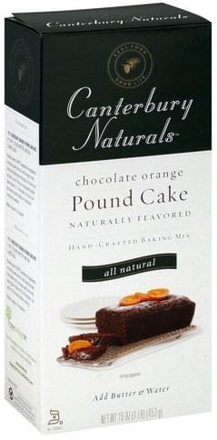 Canterbury Naturals Hand-Crafted, Chocolate Orange Pound Cake Baking