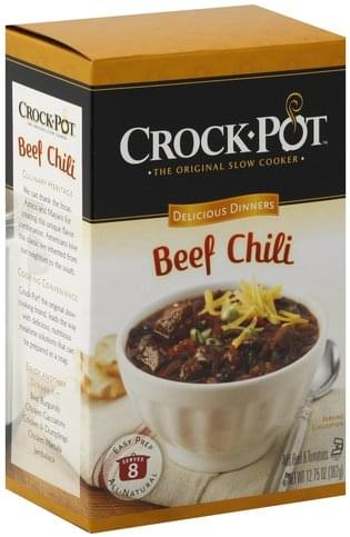 Crock Pot Beef Chili Delicious Dinners - 12.75 oz